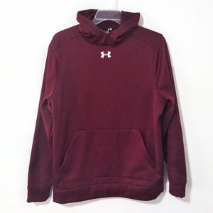 Under Armour Men's Hoodie Sweater Large Burgundy